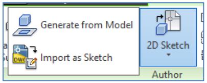 2d sketch button