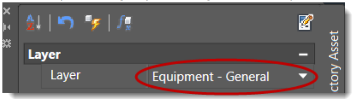 Switch layer settings by selecting from the Layer drop-down menu